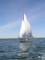The Dee of St. Mary's under sail.
